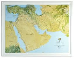 Relief Map 3d Relief Map Middle East 3d Countries And Regions Maps 3d