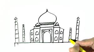 how to draw the taj mahal in easy steps for children beginners