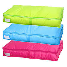 Folding Bed Sheets Zip Up Folding Clothes Coats Bed Sheets Storage Bag Holder Quilt