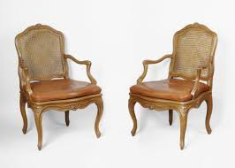 Louis Xv Armchairs Pair Of Caned Louis Xv Armchairs Stamped By Nogaret A Lyon Ref 8005
