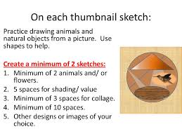 thumbnail sketches objective you will define and create thumbnail