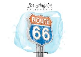 free route 66 sign watercolor vector free vector