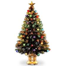 national tree 48 inch fiber optic ornament fireworks