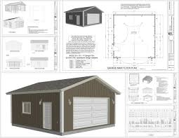 g553 24 x 25 x 10 garage plans sds plans 25 x 25 garage plans