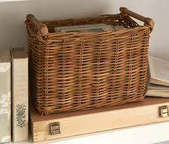 Rattan Baskets by Rattan Basket With Handle The Holding Company
