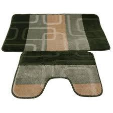 5 Piece Bathroom Rug Set by 2 Piece Square Design Bath Mat And Pedestal Mat Set 5 Options