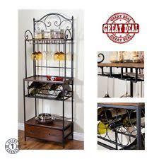 Bakers Racks With Drawers Wood Standing Baker U0027s Racks Ebay