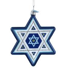 kurt adler noble gems of david hanukkah ornament