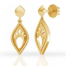 drop earring feather touch gold drop earring jacknjewel