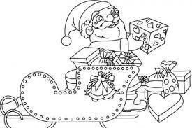 ✏ Coloriage Pére Noël à imprimer  1001coloriagegratuitfr