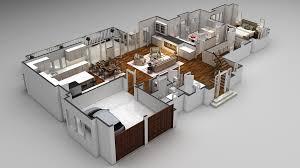 multi story house plans 3d 3d floor plan design modern 3d floor plans cartoblue