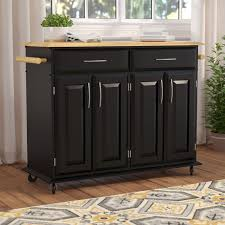 charlton home hamilton kitchen island with wood top u0026 reviews