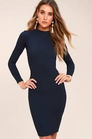 my black dress chic navy blue dress bodycon dress sweater dress