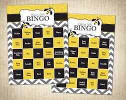 bumble bee baby shower bee themed baby shower bingo cards instant