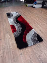 Black And Red Area Rugs by 2 Piece Set Black Grey With Red Shag Rug U0026 Rug Pad Rug Addiction