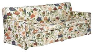 Floral Sofas In Style Floral Print Fabric Sofa With Mid Century Design Style Also