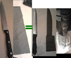 how to make kitchen knives make knife sheath and turn your kitchen knife into a cing