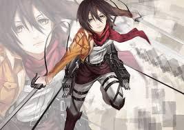 attack on titan warriors mikasa ackerman girls anime