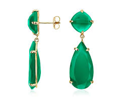 leslie stahl earrings green agate drop earrings in gold vermeil blue nile