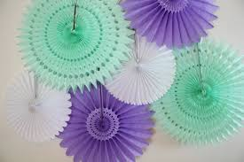 tissue paper fans bridal shower decor baby shower birthday