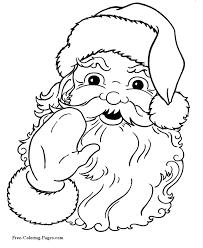 santa coloring pages christmas 01
