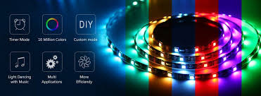 nexlux led light strip installation amazon com nexlux led strip lights wifi wireless smart phone