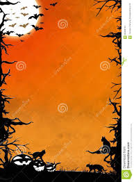 halloween background cat and pumpkin halloween night orange vertical background with trees bats cats