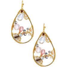 Nakamol Czech Crystal Beaded Chandelier Nakamol Earrings Shop For Nakamol Earrings On Polyvore