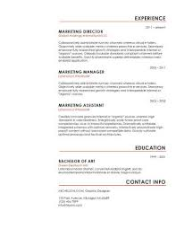 Libreoffice Resume Template Simple Resume Templates 75 Examples Free Download