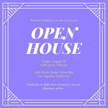 open house invitation templates canva