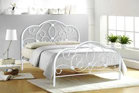 Antique White Metal Bed Frame White Metal Bed Frame Designs Trends Today Throughout