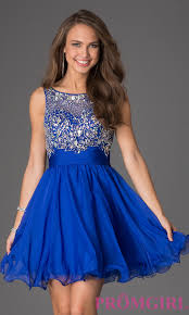 party dress sleeveless beaded scoop neck party dress promgirl