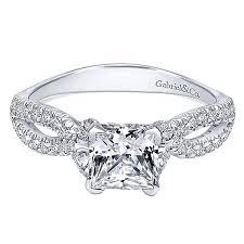 princess cut white gold engagement rings peyton 14k white gold princess cut vault jewelers