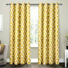 Yellow Blackout Curtains Nursery Yellow Blackout Curtains Interiors Room Darkening Geometric