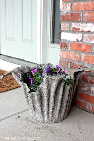 diy concrete planter the rustic willow