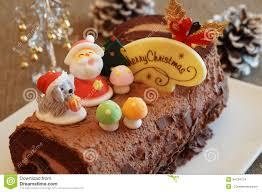 christmas log cake stock photo image 44734714