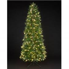 slim prelit trees decor
