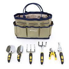 amazon com songmics 7 piece garden tool set includes garden tote