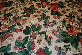 Vintage Drapery Fabric Z143 Vintage Cabbage Rose English Chintz Schumacher Waverly Floral