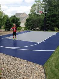 In Backyard How Much Does It Cost To Install A Backyard Basketball Court
