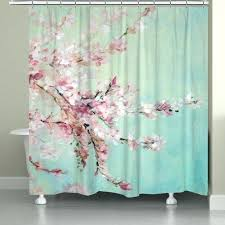 Pink Green Shower Curtain Green Shower Curtain Fabric Shower Curtain Standard Wide Or