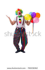 clown baloons clown balloons isolated on white stock photo 700238362