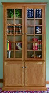 Cherry Wood Bookcase With Doors Astounding Popular Of Bookcase With Doors Billy Glass Door