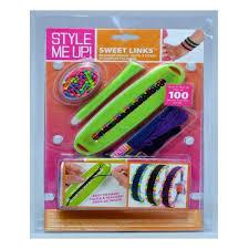 links style bracelet images Style me up sweet links woven bracelet maker kit livingdeal jpg