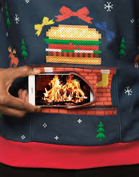 burger king u0027s ridiculous christmas sweater puts a burning yule log