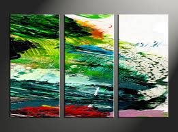 3 piece abstract colorful home decor photo canvas