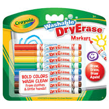crayola washable dry erase markers 8 pack officeworks