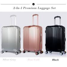 ultra light luggage sets traveller sky280 2 in 1 premium ultralight luggage set 22 26 inch