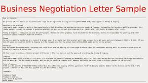 Sample Business Email Letter by Business Negotiation Letter Sample Samples Business Letters