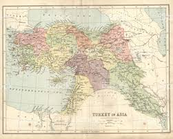 Map Of Ottoman Empire Antique Map Of Turkey And The Ottoman Empire 19th Century Stock